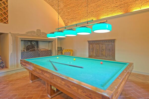 Billiard table at Villa Cerchi near Florence